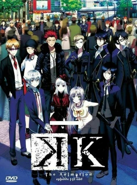 DVD Anime K Animation Season 1 2 Episode 1-26 End The Movie English Sub