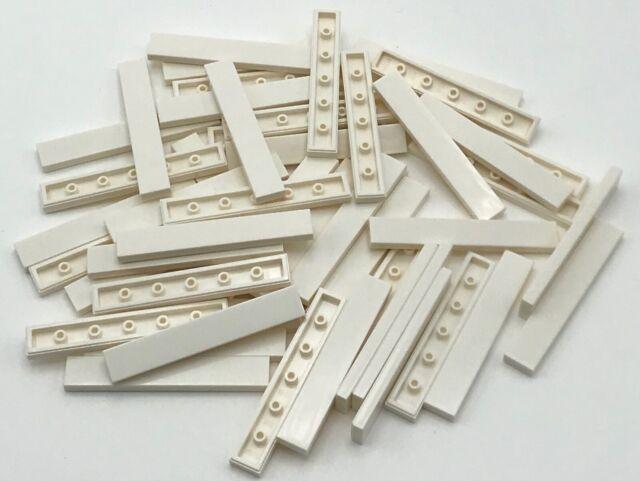 Lego 50 New White 1 x 6 Tiles Flat Smooth Pieces Parts