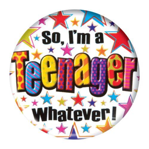 Teenager 13th Age 13 Birthday Jumbo Large Badge Gift Present