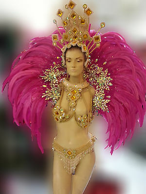 Da NeeNa B0399 Showgirl Vegas Samba Brazil Feather Pink Kitty Backpiece