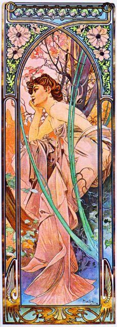 1899 Reverie du Soir Vintage French Nouveau France Poster Print Advertisement