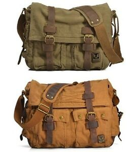 2138 New Unisex Vintage Canvas Shoulder Bag Messenger Bag School ...