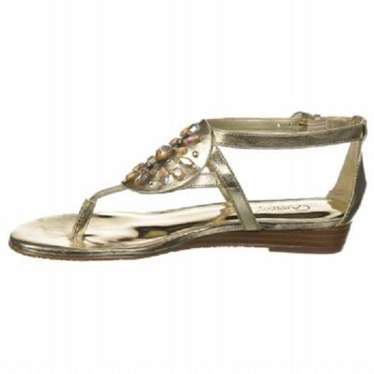 Carlos Santana Beaumont sandals gold sz 8 Med NEW