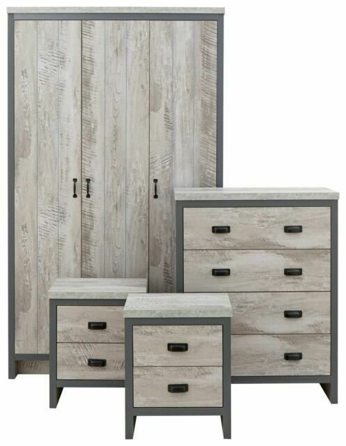 Gfw Boston Bos4pcgry 4 Piece Bedroom Furniture Set Grey For Sale Online Ebay