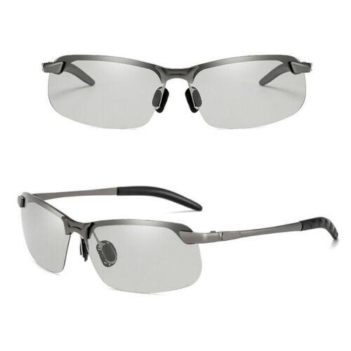Men Photochromic Lens Polarized Sunglasses Outdoor Driving Fishing Glasses NEW