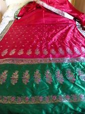 NEUF§§ 4,83x1,12 tissu -sari trame argentée  =sari ou récup tissu belle piéce!!