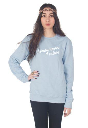 Honeymoon Vibes Sweater Top Jumper Sweatshirt Just Married Bride Wedding Gift