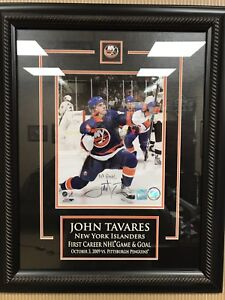 Hockey-NHL Photos John Tavares Islanders Signed 8x10 Photo Autograph Auto Frozen Pond