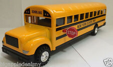 LARGE NYC NEW YORK CITY Yellow School Bus Diecast Model pullback action 8.5 INCH