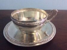 Sterling Silver Chowder Cup & Saucer – Spanish Silversmith DIONISIO GARCÃA