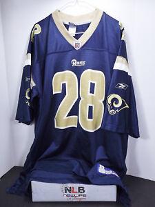 8ff3139e Reebok NFL Marshall Faulk St. Louis Rams #28 Football Jersey Size ...