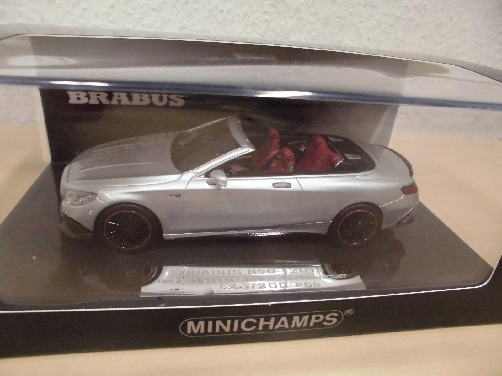 Minichamps 437034232-Brabus 850 s63 cabrio plata-met. - nº 095 of 180 - 1 43
