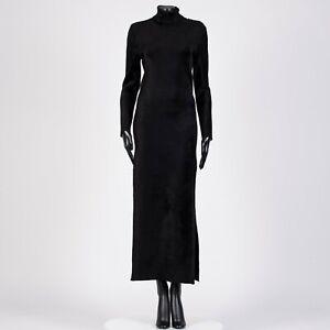 BALENCIAGA-1890-Fitted-Dress-In-Black-Velvet-Knit
