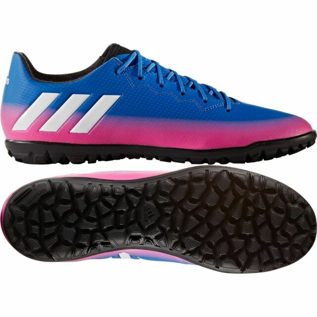 new style 1f1b2 caf71 closeout adidas 17.3 tf messi 2017 turf soccer shoes blue pink white kids  youth e14f5 514bb