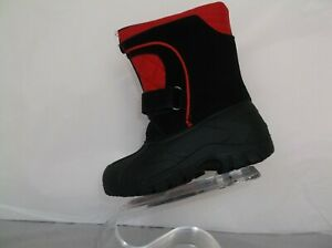2a9546641 Details about TOTES KIDS (JASON) BLACK AND RED WATERPROOF BOOTS SIZE  TODDLER 6M