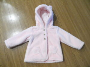 4ac091320048 NEW CARTER S BABY GIRL HOODED SHERPA JACKET LIGHT PINK 12M