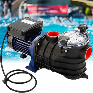 600w Swimming Pool Pump Electric Strainer Filter Pump For