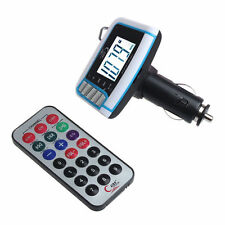 "1.44"" LCD Wireless FM Transmitter Car MP3 Player SD TF Card USB Drive Remote UK"