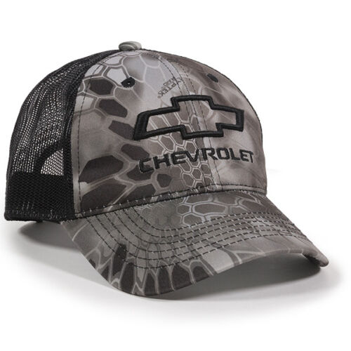 Chevrolet Kryptek Raid Black Hat Structured Low Crown Snapback Meshback Chevy