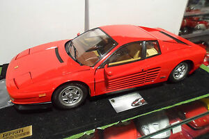 FERRARI-TESTAROSSA-rge-sur-socle-montee-1-8-POCHER-voiture-miniature-collection