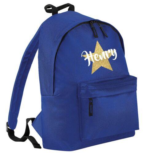 Personalised Name Junior Backpack Printed Customised Kids School Rucksack Bag