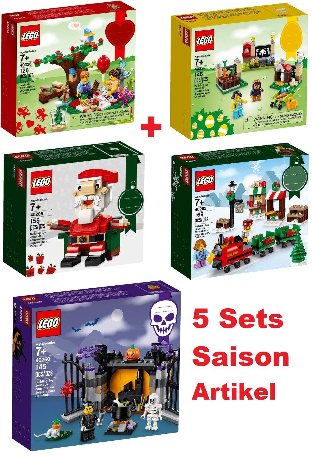 Lego 5 Séries Saison Article - 40206 402624023640237 40260 - Neuf