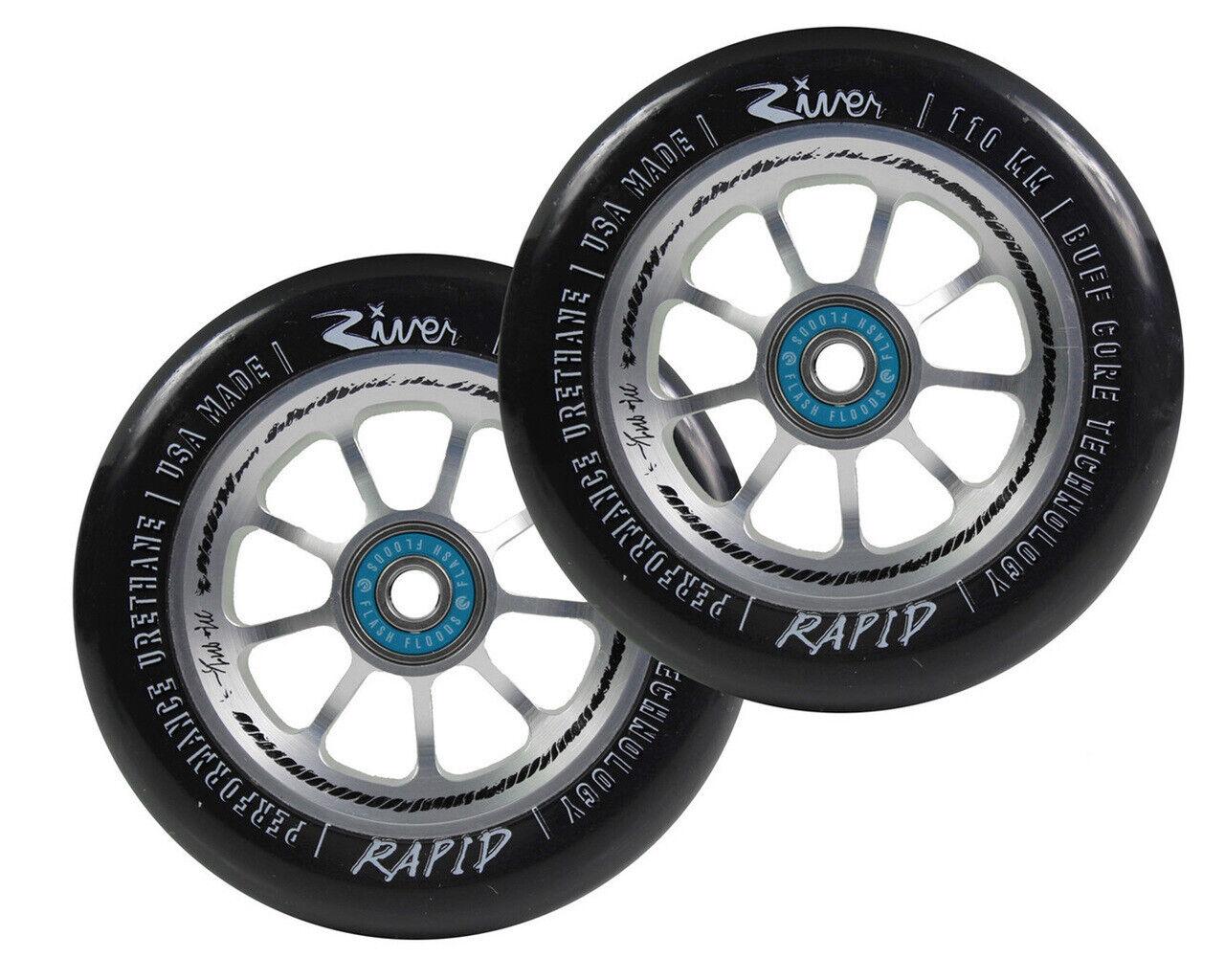 New River Wheels 110mm Negro Mate  Coches rápido Platascooter estilo libre  Para tu estilo de juego a los precios más baratos.