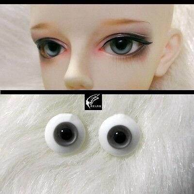 12mm For BJD DOD AOD MK OK RD Doll Dollfie Glass Eyes Outfit Grey 5