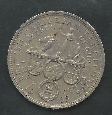 BRITISH CARIBBEAN TERRITORIES ELIZABETH II 1965 50 CENTS UNC