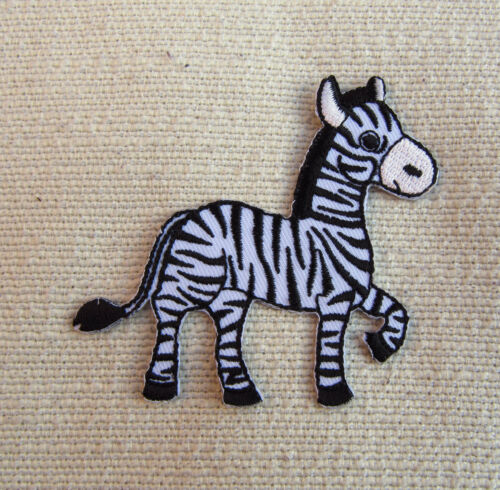 CUTE ZEBRA   Embroidered Iron On Patch  Sewing//Crafts