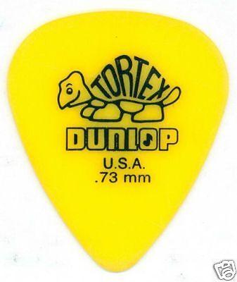 6 Pack of Dunlop Tortex Standard Flatpick .73mm