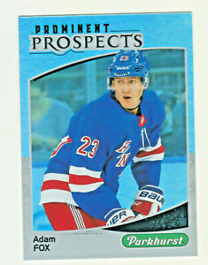 2019-20-Upper-Deck-PARKHURST-PROMINENT-PROSPECTS-ADAM-FOX-RC-Rookie-Rangers