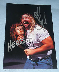 Al Snow Signed Wrestlemania XV 15 Live Photo Card Wrestling WWE Autograph ECW