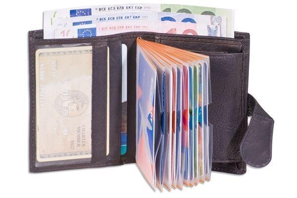 + Super Portafoglio Compatta Con Xxl-carte Di Credito Tasche 4600809-entaschen 4600809