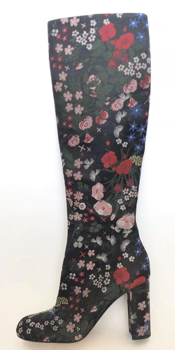Offriamo vari marchi famosi Valentino Garavani Garavani Garavani donna scarpe Dimensione 39 New Floral High stivali  alta qualità