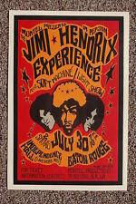 Jimi Hendrix Tour Poster Baton Rouge