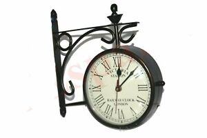 New-Outdoor-Nautical-Black-Station-Wall-Clock-6-039-039-Roman-Number