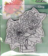 New Cling Penny Black RUBBER STAMP FRESH CUT FLOWERS IN VASE  free us ship