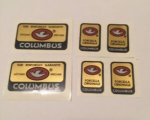 Adesivi-Decals-Stikers-Columbus-Frame-per-Colnago-Derosa-Bici-Corsa-Vintage