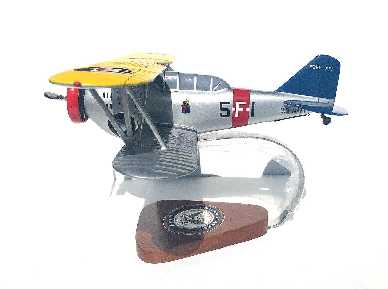 PACIFIC AIRCRAFT US NAVY GRUMMAN FIFI FF-1 WOOD MODEL AIRPLANE