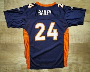 eb52e0af0 Denver Broncos Reebok On Field Jersey Champ Bailey  24 Youth Large ...