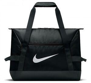 Nike Academy Club Team Duffel Gym Football Sports Holdall Bag Black / White Logo