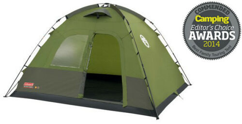 COLEMAN INSTANT DOME 5 5 PERSON CAMPING TENT UP IN 1 MINUTE