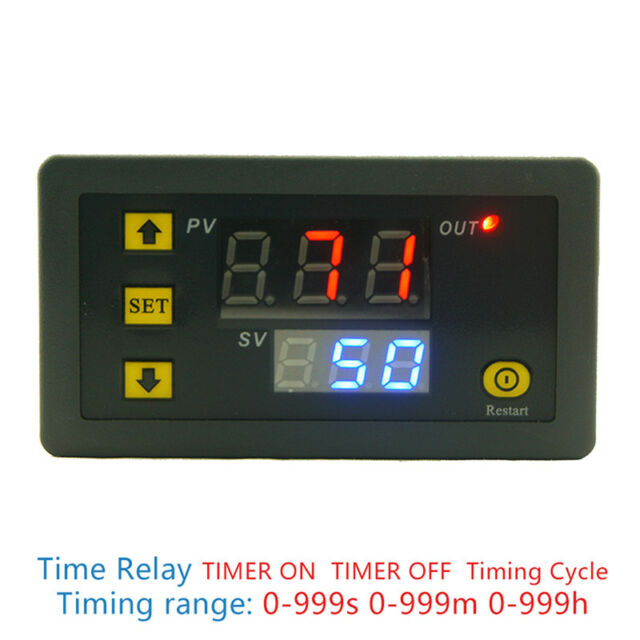 DC 12V 20A Digital Display Time Delay Relay Timing Timer Cycling Module 0-999hQC