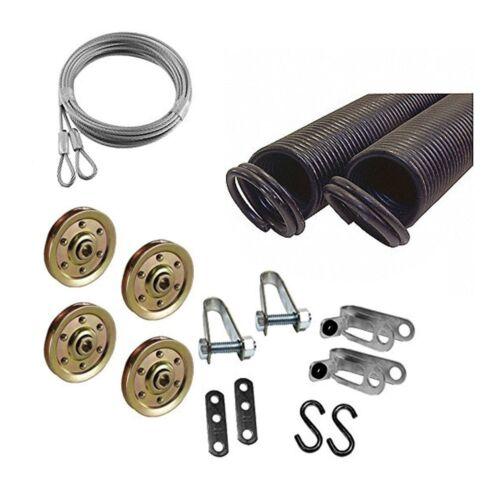 Garage Door Extension Spring KIT Double Looped for 7/' High Door 25-42-90 Pounds