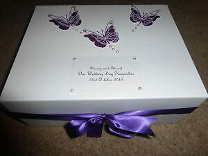 Large Wedding Keepsake Box Personalised Memory Box Engagement ...