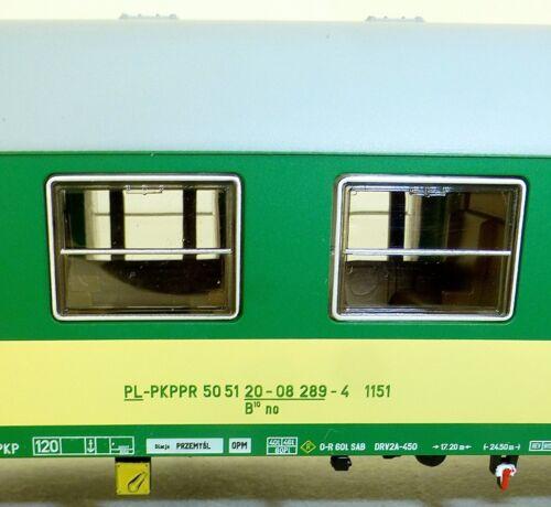 PKP viaggiatori tipo 111 2te KL VERDE CHIARO BEIGE HERIS 17025-2 h0 NUOVO ha1 µ *