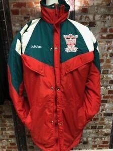Détails sur Vintage Adidas Liverpool 199293 gestionnaires Veste rouge et vert taille 4042