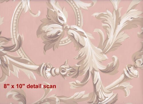 Victorian Rococo Revival Era 1850 scroll vine Historic Reproduction Wallpaper