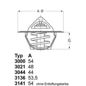 MAHLE Original TX 66 91D Thermostat K/ühlmittel